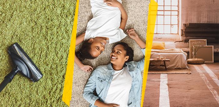 O carpete é, sem dúvidas, um dos tipos de pisos e revestimentos mais confortáveis para o quarto.