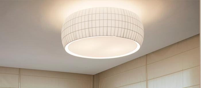 Exemplo de luminária sobreposta.